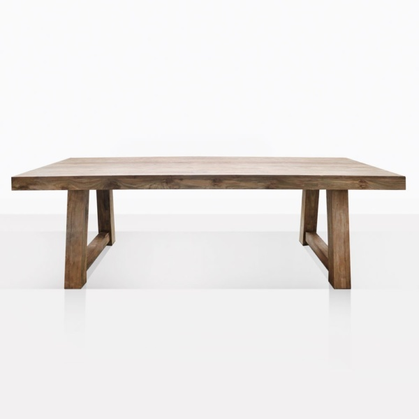 Hunter Reclaimed Teak Dining Table Straight On