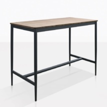 Noble Teak And Aluminum Bar Table