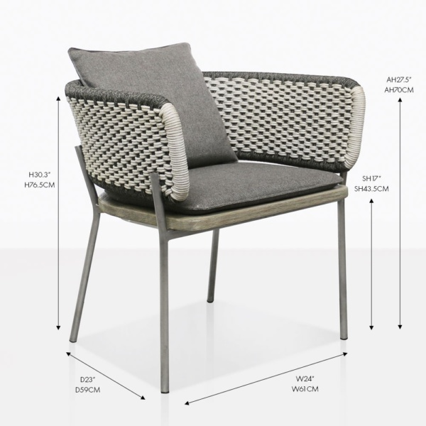 Studio two tone outdoor dining chair