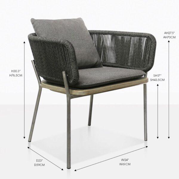 Studio vertical outdoor dining chair