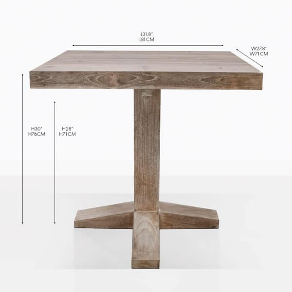 Cube Bistro Teak Dining Table