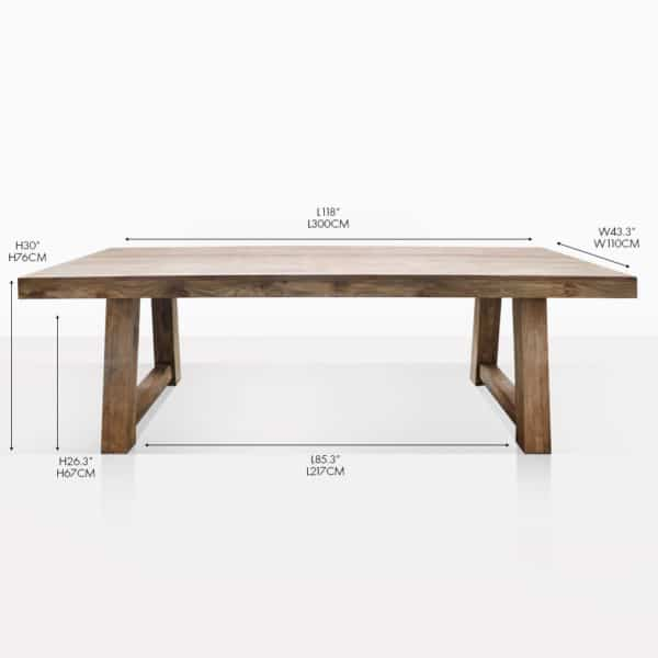 hunter trestle dining table