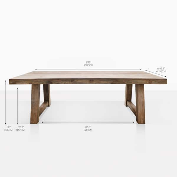 Hunter reclaimed teak outdoor dining table