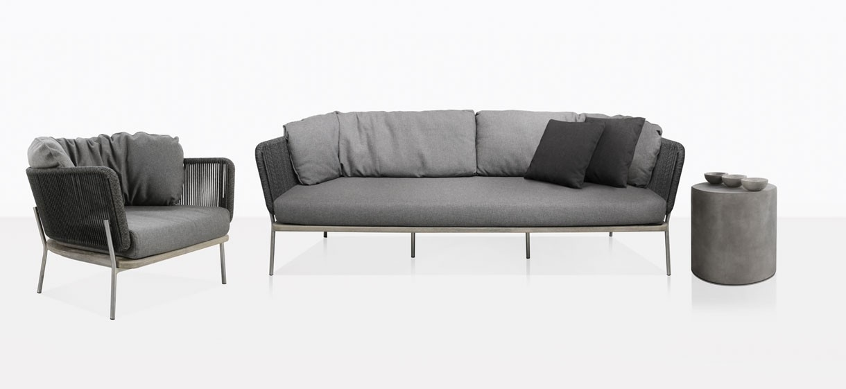 Studio Rope Outdoor Sofa And Club Chair