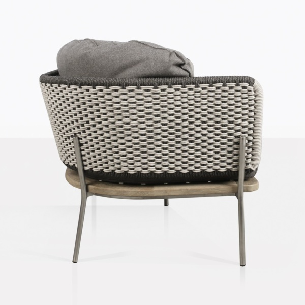 Studio Rope Teak And Aluminum Outdoor Sofa Side