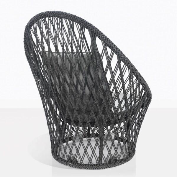 Sunai Open Weave Swivel Chair Back