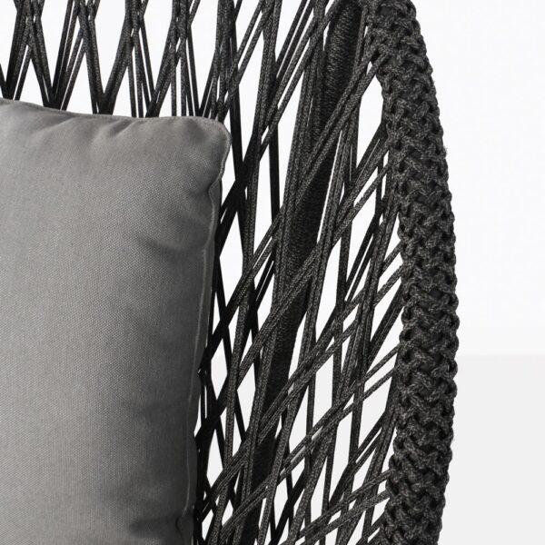 Sunai Open Weave Charcoal Closeup