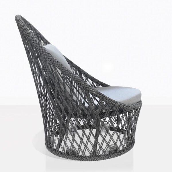 Sunai Open Weave Swivel Chair Side