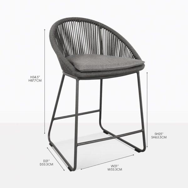 urban counter stool coal