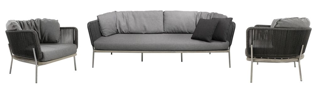 studio collection coal sofa and chairs