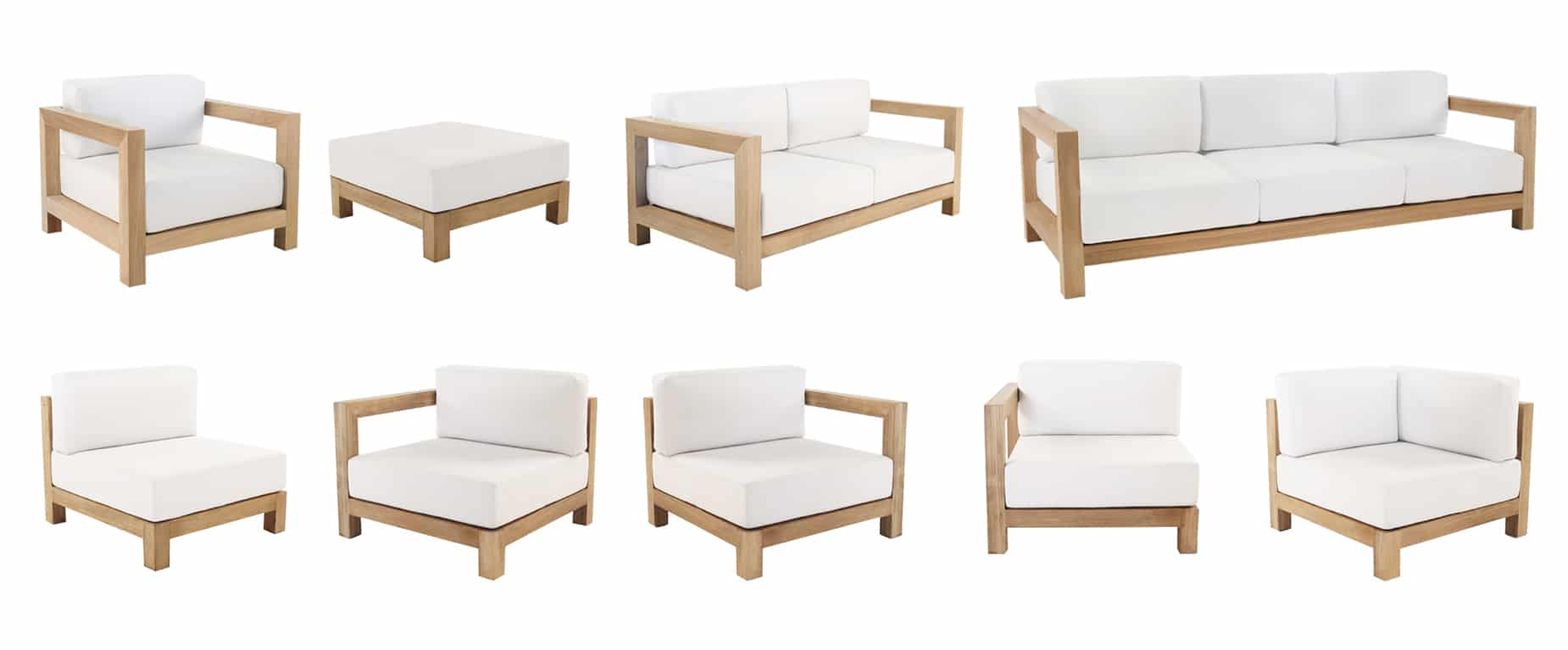 Ibiza Teak Sectional Furniture