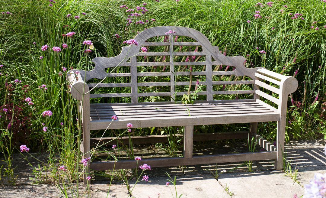 Lutyens Teak Bench In The Garden