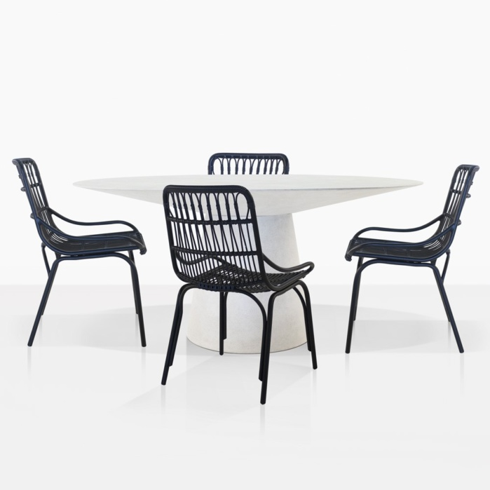 Holly Round Dining Table And 4 Sydney Dining Chairs