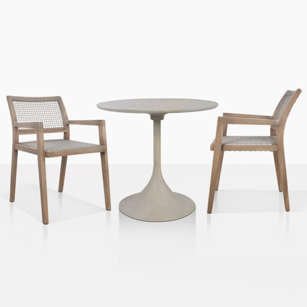 Orgain Concrete Dining Table And Gazzoni Dining Chairs