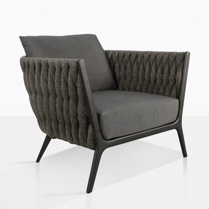 Bianca Modern Rope Outdoor Relaxing Chair in Coal