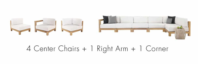Ibiza Sectional Pieces Create A Sofa