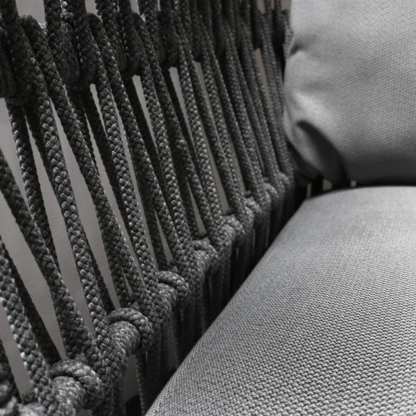 Portofino Sofa Closeup of Rope And Fabric