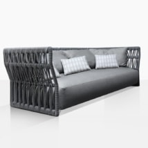 Portofino Rope Outdoor Sofa With Throw Pillows