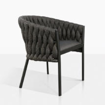 Bianca Rope Modern Dining Chair in Coal