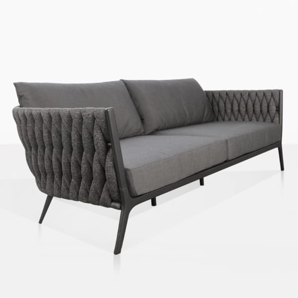 Bianca Outdoor Loveseat with Coal Cushions