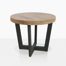 Jimmy Teak And Aluminum Outdoor Accent Table