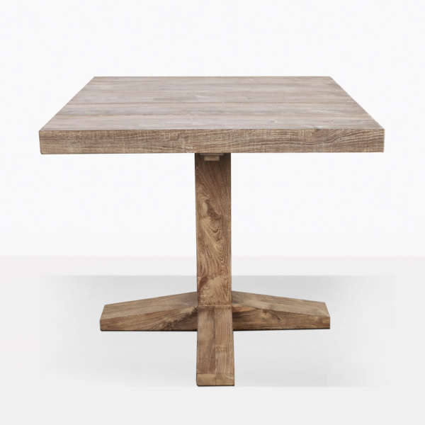 Napa Reclaimed Teak Square Outdoor Table Side