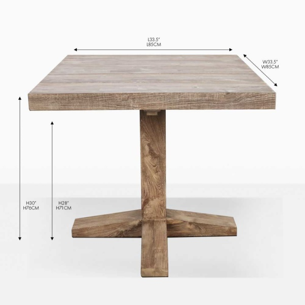 napa bistro teak dining table