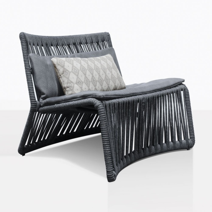 Portofino Relaxing Chair With Decorative Throw Pillow