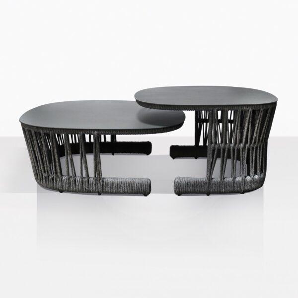 Portofino Rope And Aluminum Coffe Table Set