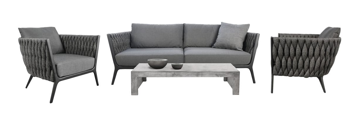 Bianca outdoor sofa sectional in coal