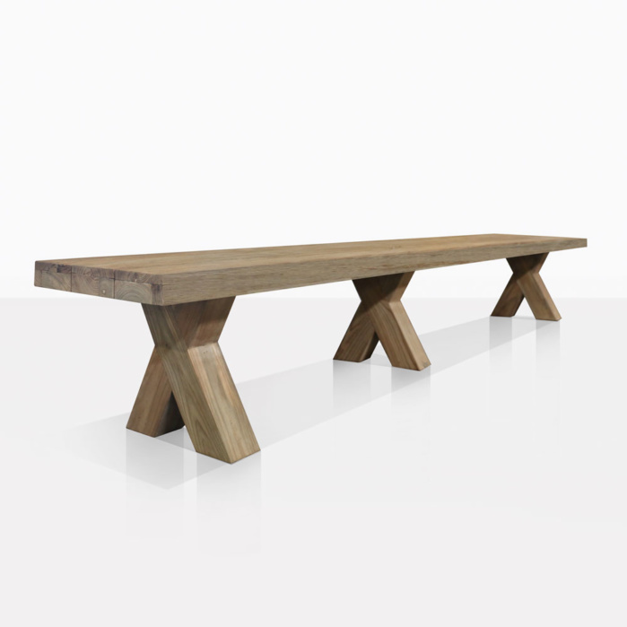Boxx Teak Backless Bench
