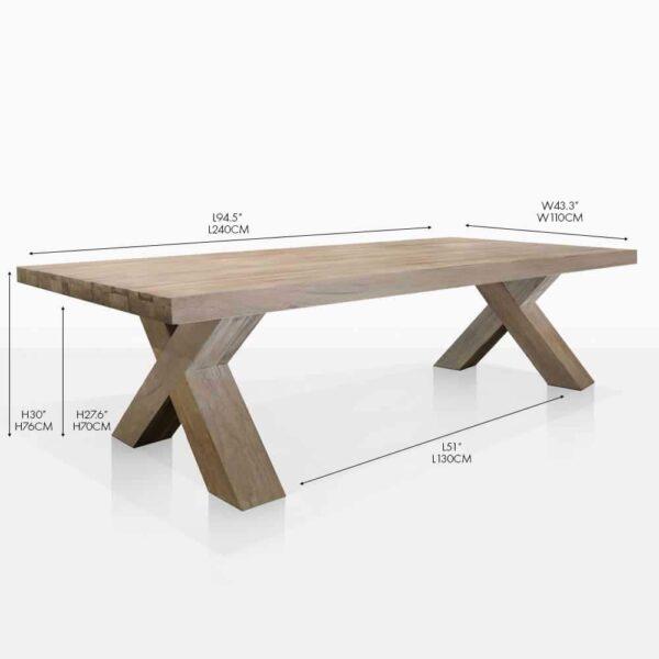 boxx teak dining table