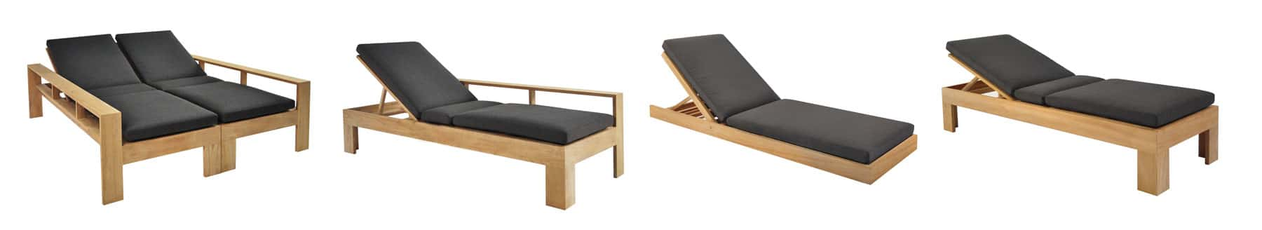A-Grade Teak Adjustable Sun Loungers