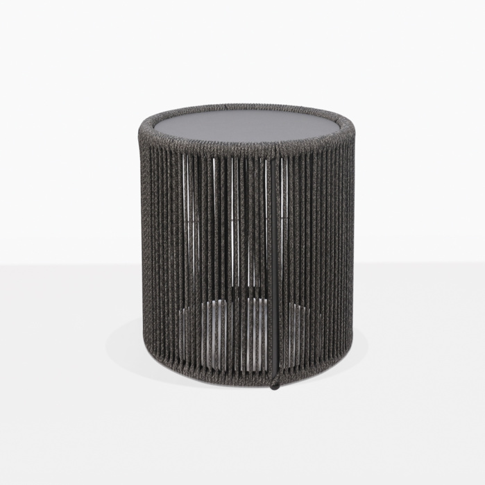 Benni Outdoor Round Rope Accent Table