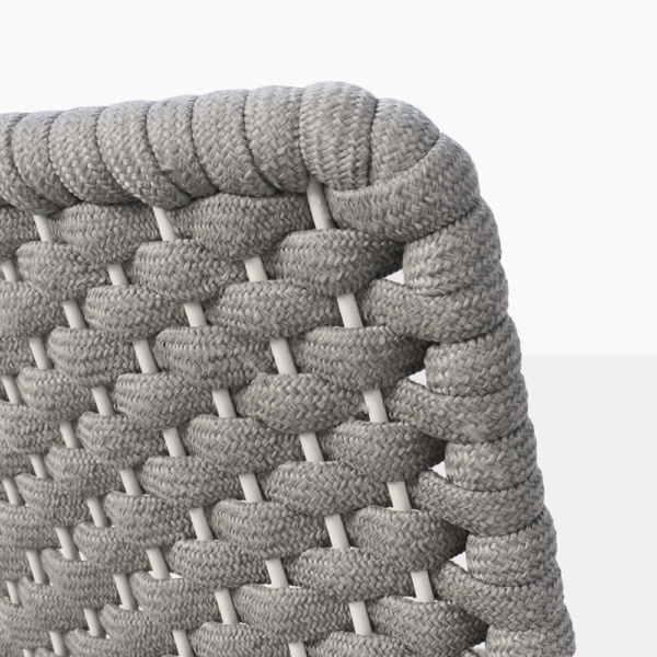 Terri Outdoor Dining Arm Chair Grey Rubber Rope - Closeup View