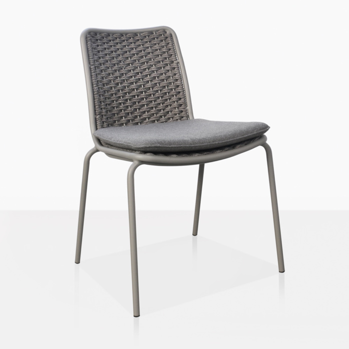 Kerri Rope and Aluminum Dining Side Chair Angle