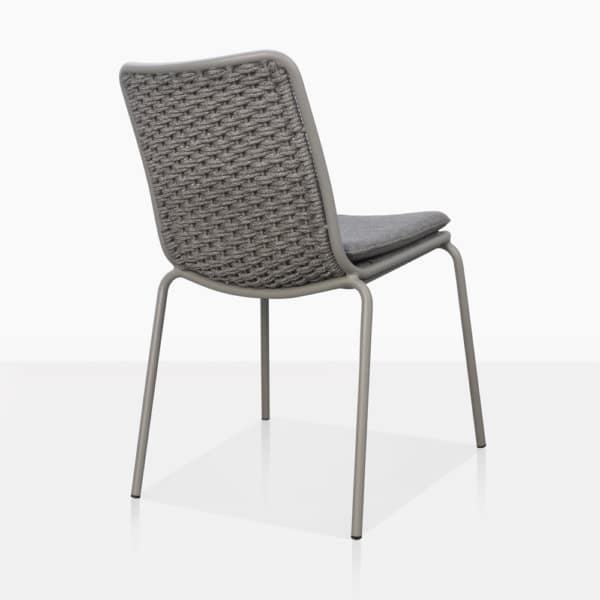 Kerri Rope and Aluminum Dining Side Chair Back