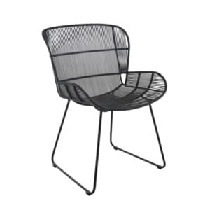 Nairobi black wicker dining side chair