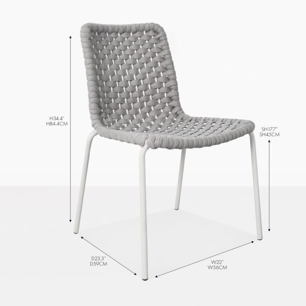 terri rope dining side chair gray