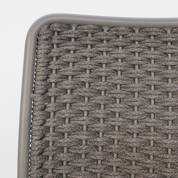 Kerri Rope and Aluminum Dining Side Chair Closeup
