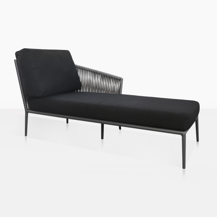 Washington Left Arm Chaise Lounge With Cushions