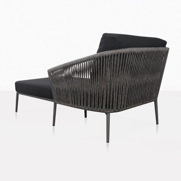 Washington Left Arm Chaise Lounge With Cushions Back
