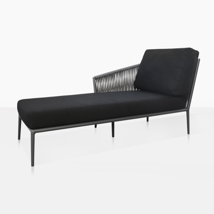 Washington Right Arm Outdoor Chaise Lounge