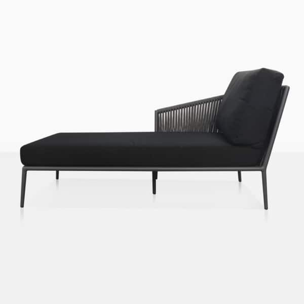 Washington Right Arm Outdoor Chaise Lounge Side