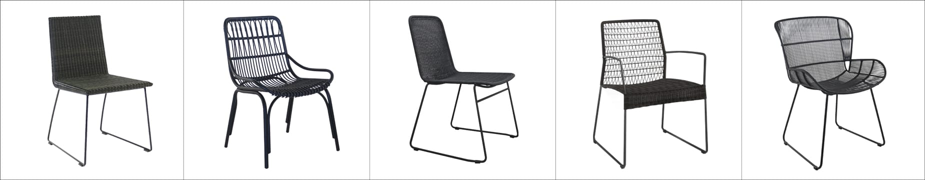 Top 5 Wicker Chairs. Black wicker dining chair examples.