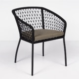 Lola outdoor rope dining chair