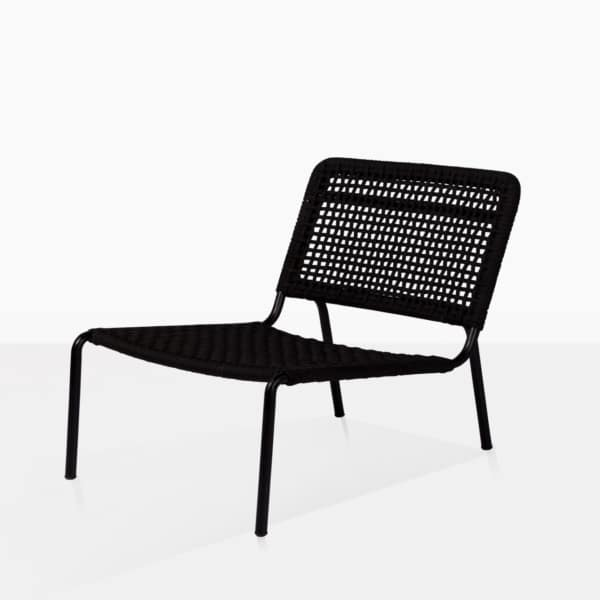 low type black chair