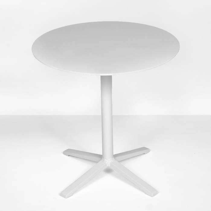 nosh low aluminum side table in white