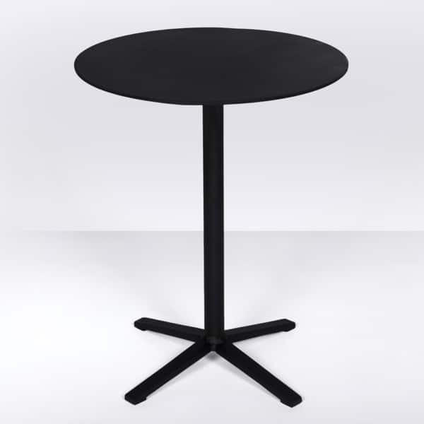 Nosh Outdoor Aluminum Tall Side Table (Black)
