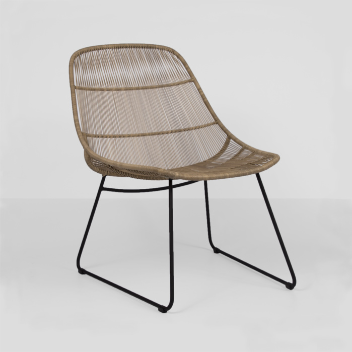 oliver wicker chair - natural - view angled